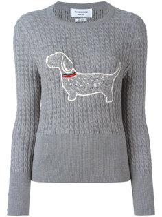 джемпер с вышивкой собаки Thom Browne