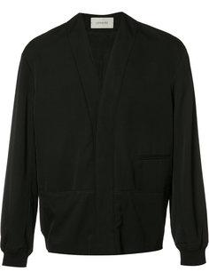 куртка бомбер с V-образным вырезом Lemaire