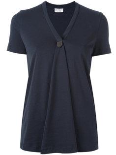 блузка c V-образным вырезом  Brunello Cucinelli