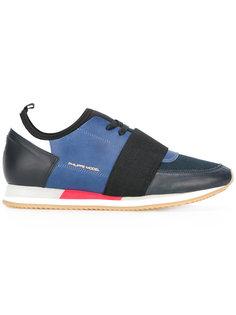 кроссовки с эластичной деталью на шнуровке Philippe Model