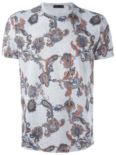 футболка с цветочным узором Etro