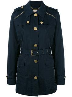 пальто с молниями на плечах Michael Michael Kors