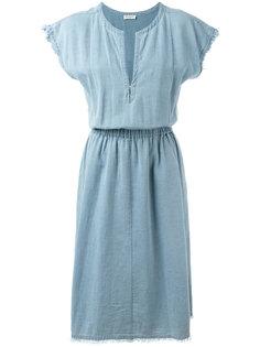 джинсовое платье с V-образным вырезом Masscob