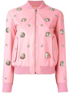 куртка-бомбер с круглыми заклепками Versus