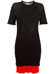 платье колор-блок Paco Rabanne