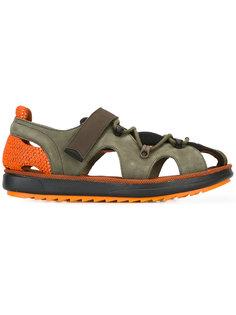 сандалии с вырезными деталями и шнуровкой Camper