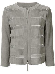 куртка с прозрачными полосами Armani Collezioni