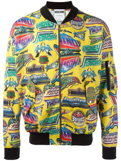 куртка бомбер с принтом Moschino