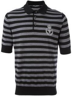 рубашка-поло с вышивкой Dolce & Gabbana