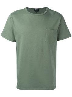 футболка Stitch Pocket A.P.C.
