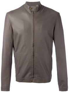 кожаная куртка с узким воротником Salvatore Santoro