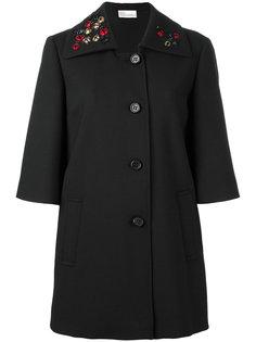 пальто с вышивкой Red Valentino