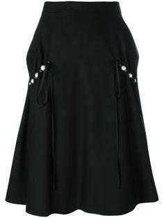 юбка с перламутровыми бусинами Comme Des Garçons Noir Kei Ninomiya