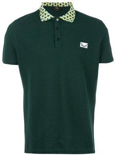 рубашка-поло с контрастным воротником Fendi