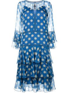 """платье с рюшами и вырезом """"замочная скважина"""" Alberta Ferretti"""