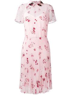 платье-рубашка с цветочным рисунком Red Valentino