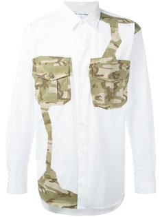 рубашка с камуфляжными заплатками Comme Des Garçons Shirt