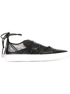 кроссовки на шнуровке с сетчатой панелью Dsquared2