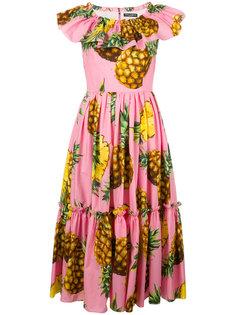 платье с принтом ананасов Dolce & Gabbana