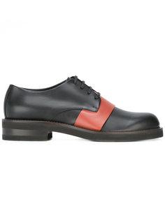 туфли на шнуровке с контрастной панелью Marni