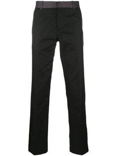 прямые брюки с принтом на поясе Alexander McQueen