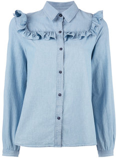 рубашка с отделкой оборками A.P.C.