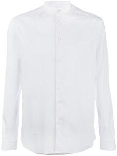 рубашка с узким воротником-стойкой Paolo Pecora