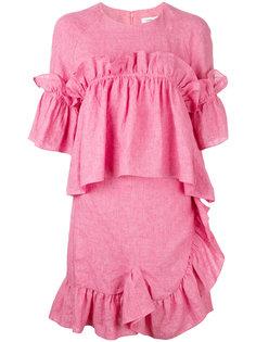 платье-шифт с оборками Goen.J