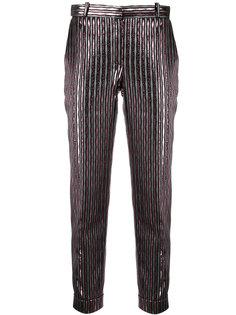 укороченные брюки с полосками металлик Carven