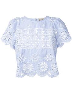 полосатая блузка с люверсами Sea