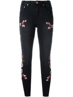 укороченные джинсы с вышивкой Birds of Paradise One Teaspoon