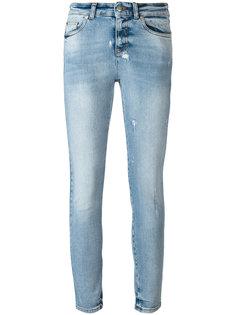 джинсы скинни с потертой отделкой Alexander McQueen