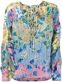 блузка с цветочным принтом Dondup
