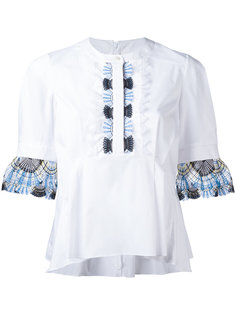 блузка с кружевной отделкой Peter Pilotto