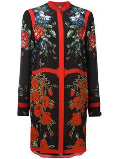 платье-рубашка с цветочным принтом Alexander McQueen
