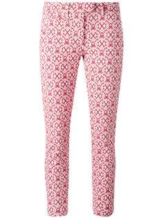 укороченные брюки с мелким узором Dondup