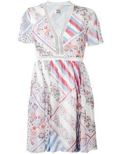 расклешенное платье с лоскутным узором Tommy Hilfiger