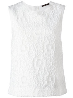 floral lace sleeveless top Odeeh