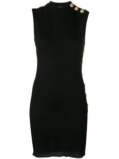 ребристое платье без рукавов Balmain