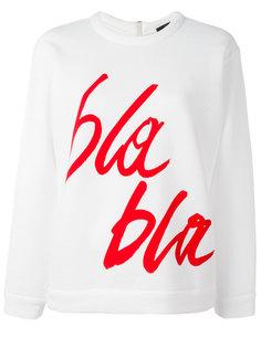 bla bla print sweatshirt Odeeh