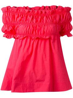 блузка с открытыми плечами MSGM