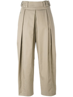 укороченные брюки со складками Alexander Wang
