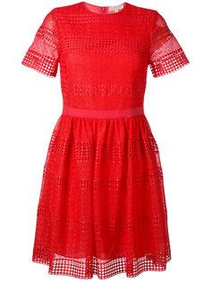 платье шифт с кружевом Michael Kors