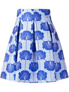 жаккардовая юбка с цветочным принтом P.A.R.O.S.H.