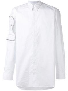 рубашка с вышивкой и отделкой молнией Givenchy