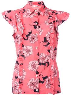 рубашка с цветочным принтом P.A.R.O.S.H.