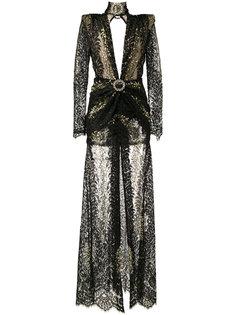 длинное кружевное платье Alessandra Rich