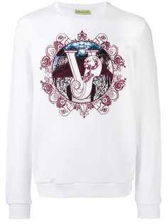 logo print sweatshirt Versace Jeans