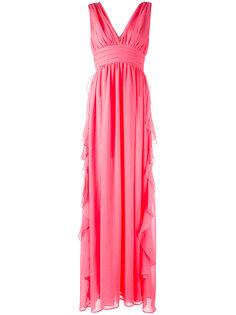 вечернее платье с V-образным вырезом MSGM
