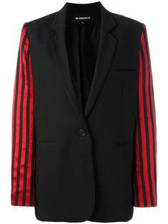 пиджак с полосатыми рукавами Ann Demeulemeester